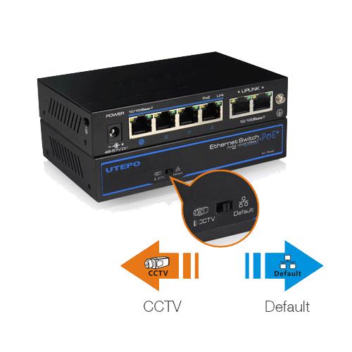 Switch 4 porturi PoE+, 2 porturi uplink SW04-TP60-12