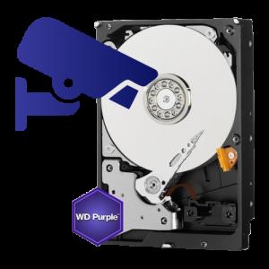 Hard disk 8TB WD PURPLE Surveillance special conceput pentru sistemele de supraveghere video cu utilizare 24 de ore, 7 zile / saptamana.